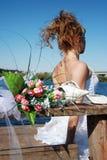 bukieta ślub zamknięty Fotografia Royalty Free