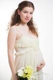 bukieta chryzantem kobieta w ciąży Fotografia Stock