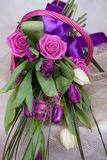 bukieta colour obrazu róż tulipanów woda Fotografia Royalty Free