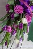 bukieta colour obrazu róż tulipanów woda Obrazy Stock