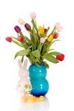 bukieta Easter tulipany wazowi obraz royalty free