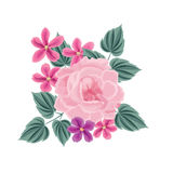 bukieta jaskrawy kwiatu obrazka wektor rama kwiecista wrobić serii Zawijasa kartka z pozdrowieniami Zdjęcie Royalty Free