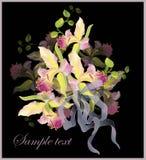 bukieta karciane powitania orchidee Obraz Royalty Free