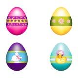 bukieta królik dekorujący Easter jajka ilustracja wektor