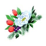 Bukieta kwiat w akwarela stylu odizolowywającym Obrazy Royalty Free