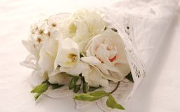 bukieta kwiatu biel Fotografia Royalty Free