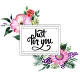 Bukieta kwiatu rama w akwarela stylu Fotografia Royalty Free