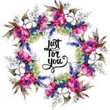 Bukieta kwiatu wianek w akwarela stylu Zdjęcie Royalty Free