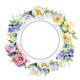 Bukieta kwiatu wianek w akwarela stylu Zdjęcia Stock