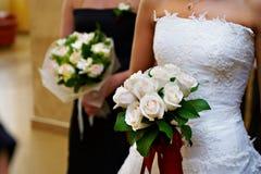 bukieta panny młodej kwiatów ręki ślub Obrazy Stock