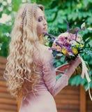 bukieta panny młodej mienia ślub Zdjęcie Royalty Free