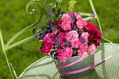 bukieta róż odgórny widok Zdjęcie Stock