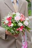 bukieta ręki ślub Obraz Royalty Free