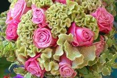 bukieta róż odgórny widok Obraz Stock