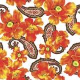bukietów formie ciągnąć wzoru mały bezszwowy kwiat Fotografia Stock