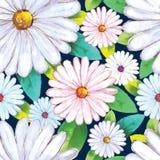 bukietów formie ciągnąć wzoru mały bezszwowy kwiat Obrazy Royalty Free