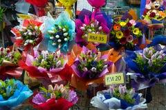 Bukiety kwiaty dla sprzedaży Zdjęcia Stock