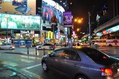Bukit Bintang en la noche Foto de archivo libre de regalías