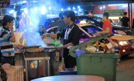 Bukit Bintang street restaurant Kuala Lumpur Royalty Free Stock Image