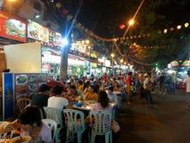 Bukit Bintang outdoor dining at Jalan Alor Kuala Lumpur Stock Photo