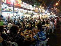 Bukit Bintang outdoor dining at Jalan Alor Kuala Lumpur Royalty Free Stock Photo