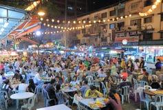 Bukit Bintang utomhus- äta middag i Kuala Lumpur Royaltyfri Fotografi
