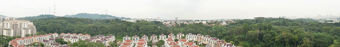 Bukit gombak area. A forest area with houses in singapore Stock Photography