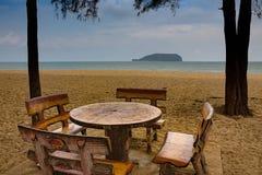Bukit Keluang strand, Terengganu, Malaysia Arkivbild