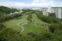bukit kursu golfa jambul Obrazy Stock