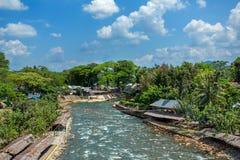 Bukit lawang dorp, Sumatra royalty-vrije stock foto