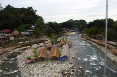 Bukit lawang village, river and jungle, sumatra stock image