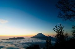Bukit Sikunir. Best Hills Destination at Dieang Plateu, Indonesia Royalty Free Stock Image