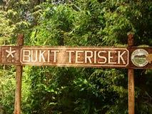 Bukit Terisek sign, Taman Negara, Malaysia Stock Photos