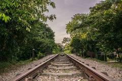 Bukit Timah Train Tracks Long Road. This is part of the old KTM train tracks that once run through til Tanjong Pagar. Once a busy track, now left only the Royalty Free Stock Photography