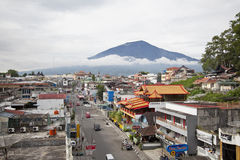 Bukittinggistad in het Westen Sumatra royalty-vrije stock afbeelding