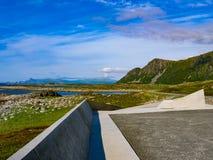 Bukkekjerka中途停留,Andoya海岛挪威 免版税库存照片