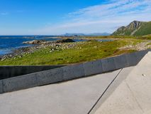 Bukkekjerka przystanek, Andoya wyspa Norwegia fotografia stock