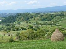 Bukolika krajobraz góry i kraj Maramuresh w Rumunia fotografia royalty free