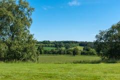 Bukolika krajobraz przy Dumfries domem w Cumnock, Szkocja, UK fotografia stock