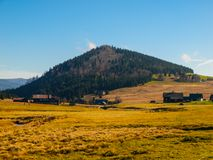 Bukovec hill and Jizerka village Royalty Free Stock Image