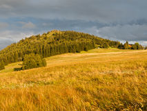 Bukovec Mountain at sunset time Stock Photos