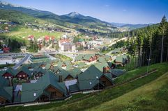 Bukovel Carpatian berg, Ukraina arkivfoto