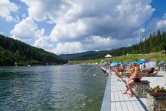 Bukovel resort  Carpathian mountains Royalty Free Stock Image
