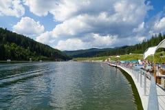 Bukovel resort Carpathian mountains in Ukraine. Royalty Free Stock Photo