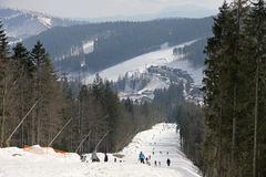 Bukovel ski resort, Carpathians, Ukraine Royalty Free Stock Photos