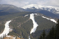 Bukovel ski resort, Carpathians, Ukraine Royalty Free Stock Image