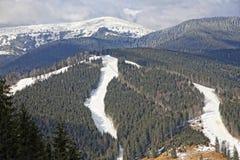 Bukovel ski resort, Carpathians, Ukraine Stock Image