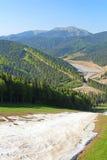 Bukovel ski resort in May, Ukraine Royalty Free Stock Photos