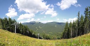 Bukovel ski resort in summer, Carpathians Stock Image