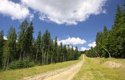 Bukovel ski resort in summer. Carpathians, Ukraine Royalty Free Stock Photo
